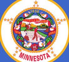 Minnesota USA State Flag Minneapolis Duvet T-Shirt Sticker Sticker
