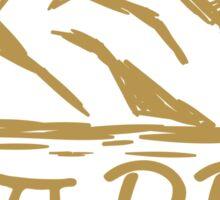 Happy Camper - Gold Sticker