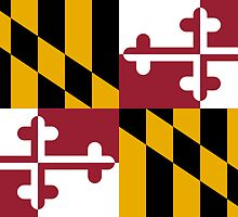 Maryland USA State Flag Baltimore Annapolis Duvet Cover T-Shirt Sticker by deanworld