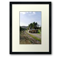 The Disused Alton Towers Railway Station  Framed Print