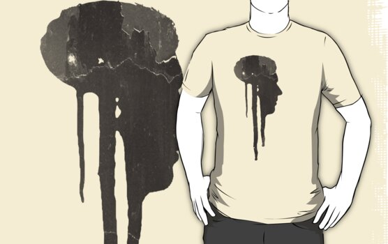 Dying Inside - Grunge T-Shirt by Denis Marsili
