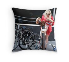 Kensington Market Shopper Throw Pillow