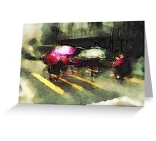 Umbrellas at the crossing III Greeting Card