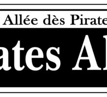 Pirates Alley, New Orleans Street Sign, USA Sticker