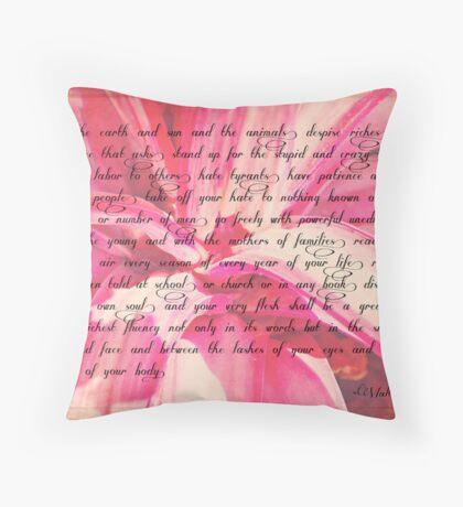 Walt Whitman Quote Throw Pillow