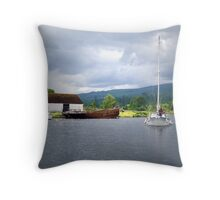 Approaching Caledonian Canal Throw Pillow