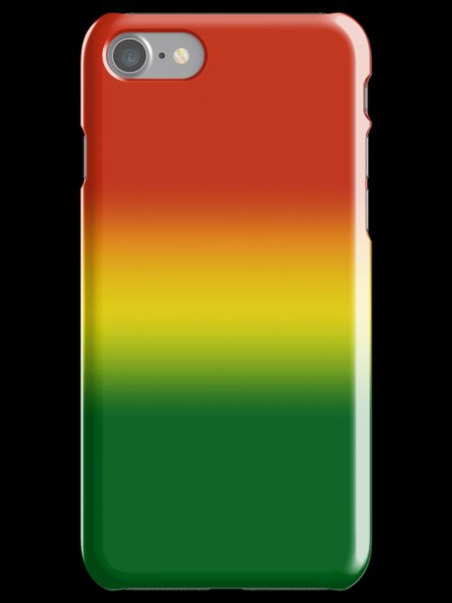 Rasta Colours Case - Horizontal  by designergirl86