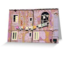 The Essence of Croatia - Pastel Houses of Dubrovnik Greeting Card