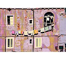 The Essence of Croatia - Pastel Houses of Dubrovnik Photographic Print