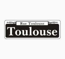 Toulouse St., New Orleans Street Sign, USA Kids Tee