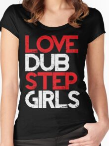 Love Dubstep Girls (red) Women's Fitted Scoop T-Shirt