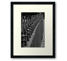 Carnegie, PA: Fence Framed Print