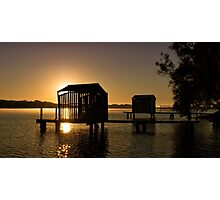 Boathouse in Silhouette Photographic Print