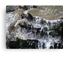 rocky waterfall Canvas Print