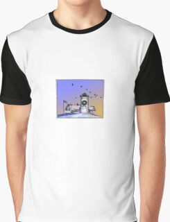 Nobska Lighthouse Wreath Graphic T-Shirt