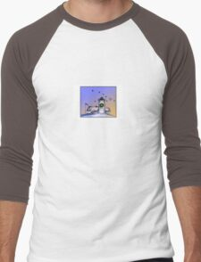Nobska Lighthouse Wreath Men's Baseball ¾ T-Shirt