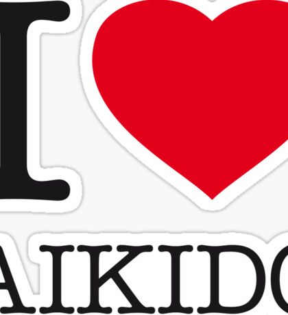 I ♥ AIKIDO Sticker