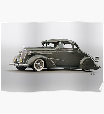 1937 Chevrolet 'Low Rider' Custom Coupe Poster