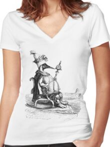 King of the Penguins Women's Fitted V-Neck T-Shirt