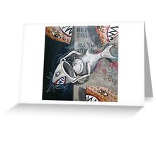 Hippopotamus 12 / Swimming with Dangerous Gods Greeting Card