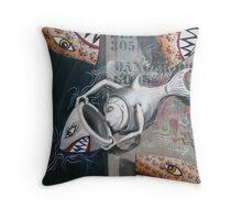 Hippopotamus 12 / Swimming with Dangerous Gods Throw Pillow
