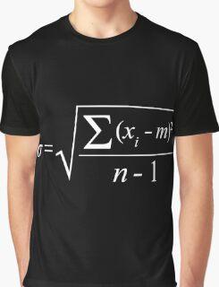 Standard Deviation formula (white design) Graphic T-Shirt