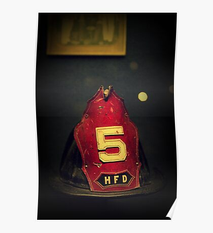 Vintage Fire Helmet Poster