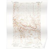 USGS Topo Map Washington State WA Leahy 241966 1968 24000 Poster