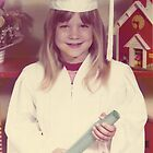 young girl vintage old preschool graduation photo 1970s by Tia Knight