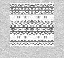 Aztec Influence II Pattern Grey on White Unisex T-Shirt