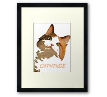 Cattitude - A Cat With Attitude Framed Print