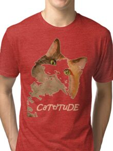 Cattitude - A Cat With Attitude Tri-blend T-Shirt