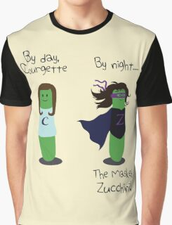 Courgette and The Masked Zucchini: double-life of a vegetable superhero Graphic T-Shirt