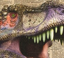 T-rex,tyrannosaurus,dinosaur Vintage Dictionary Art Sticker