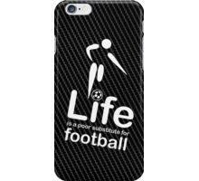 Soccer v Life - White Graphic iPhone Case/Skin