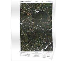 USGS Topo Map Washington State WA Aladdin Mountain 20110428 TM Poster