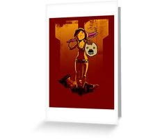 Samantha Zombie Greeting Card