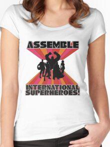 International Superheroes Women's Fitted Scoop T-Shirt