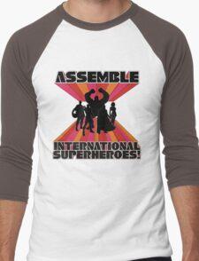 International Superheroes Men's Baseball ¾ T-Shirt