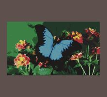 Wild nature - butterfly blue Baby Tee
