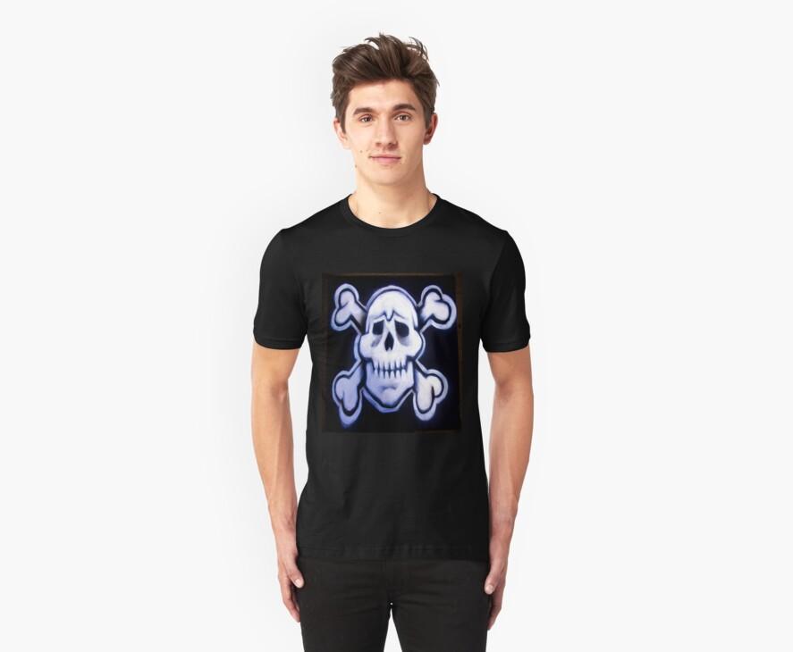 skull over crossed bones t by dedmanshootn