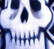 skull over crossed bones t Sticker