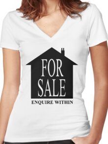 House for sale Women's Fitted V-Neck T-Shirt