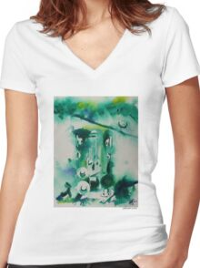 Hat Series #3 Cool Hats Women's Fitted V-Neck T-Shirt