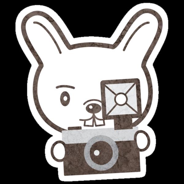 Cute Photographer Rabbit by pencilplus