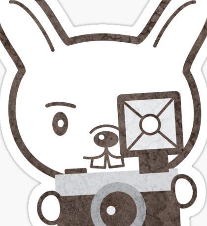 Cute Photographer Rabbit Sticker