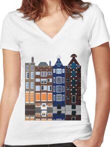 Denmark Women's Fitted V-Neck T-Shirt