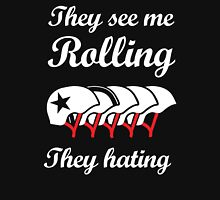 They See Me Rolling (Roller Derby) Womens Fitted T-Shirt