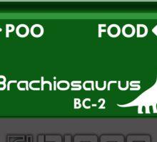 Brachiosaurus Chorus Pedal Sticker