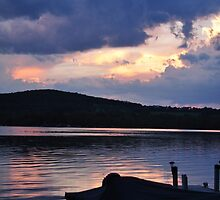 Sunset in Cooperstown 2010 by jennifer corker